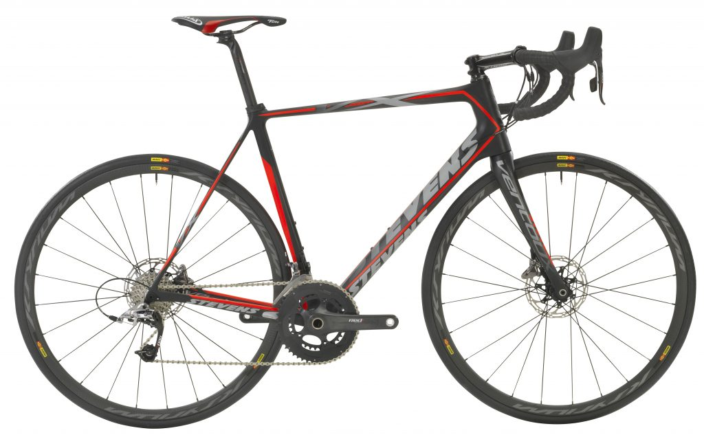 Stevens Custom Rad Ventoux Disc 17 58 carbon fire red
